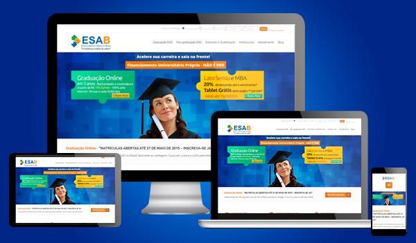 novo site da ESAB.edu.br
