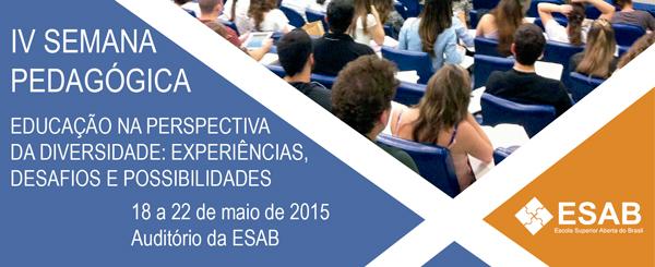 IV Semana Pedagógica da ESAB