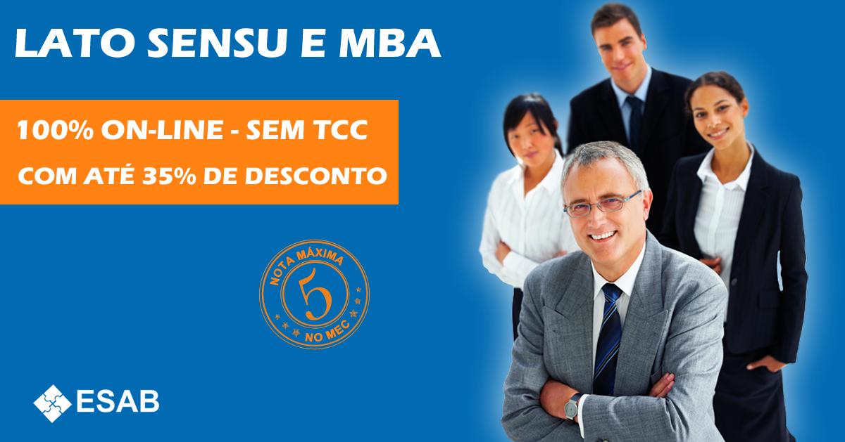 LATO SENSU E MBA